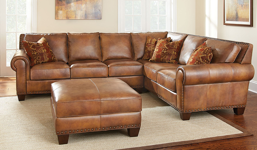 Leather Furniture Traveler Collection: Steve Silver Leather Sofa Silverado Leather Sofa